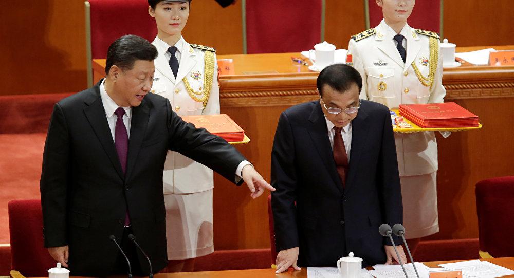 El presidente chino, Xi Jinping, y el primer ministro chino, Li Kequiang