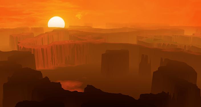 Un terreno montañoso y desierto