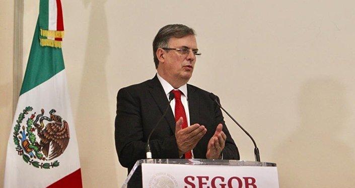 Marcelo Ebrard, mensaje del Secretario de Relaciones Exteriores (archivo)