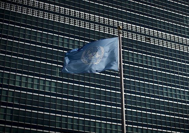 The United Nations flag flies in front of the Secretariat Building at the United Nations headquarters in New York City September 18, 2015