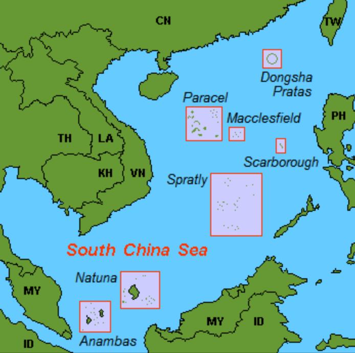 Las islas Natuna, al sur del mar de China