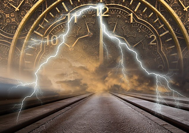 La representación de un viaje en el tiempo