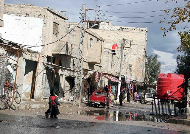 La ciudad de Duma, en las afueras de Damasco