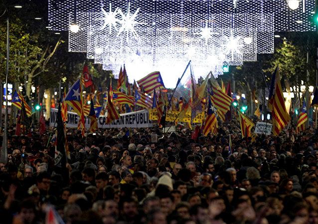 Las protestas en Cataluña, Barcelona