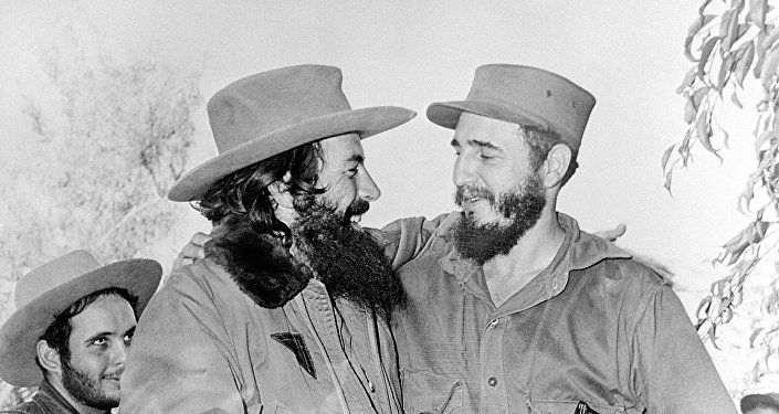 Camilo Cienfuegos y Fidel Castro, enero de 1959