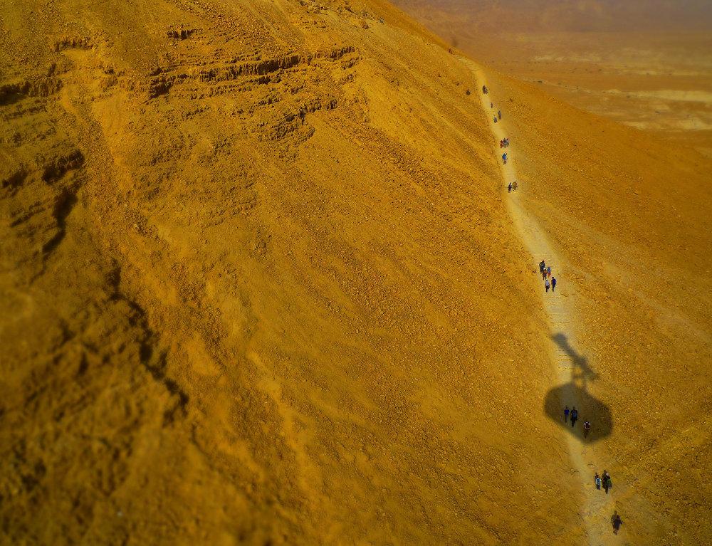 El teleférico de Masada en Israel