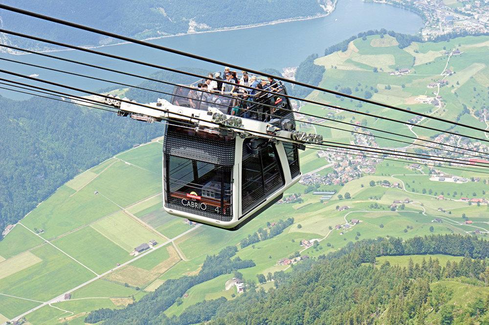 Teleférico de la ciudad de Lucerna en Suiza