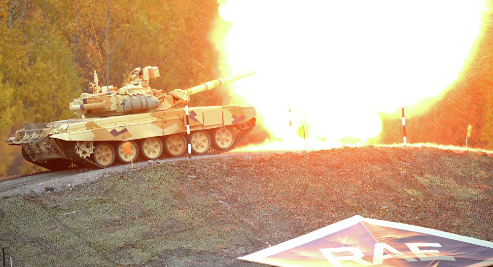 Tanque T-90 durante a Russia Arms Expo 2013 (Arquivo)