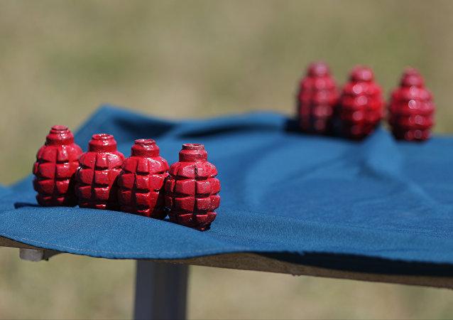 Unas granadas de entrenamiento, imagen referencial