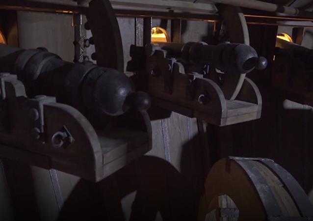 Así es la copia bielorrusa del tanque de Leonardo da Vinci