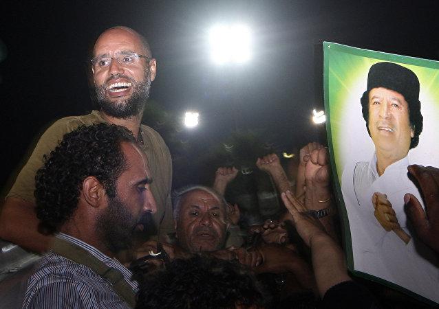 Saif Islam, el segundo hijo del ex líder libio Muamar Gadafi