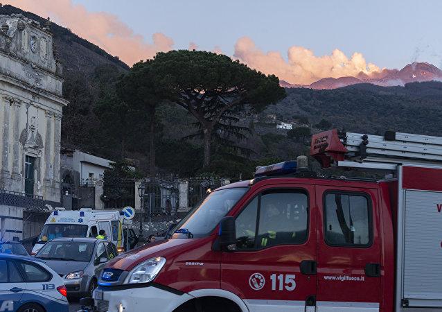 Coinsecuencias del terremoto producido por la actividad volcánica en la zona del Etna, en Sicilia
