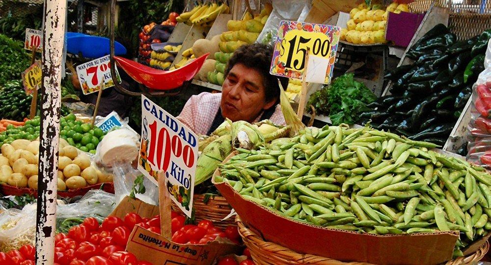 Un mercado en Puebla, Mexico