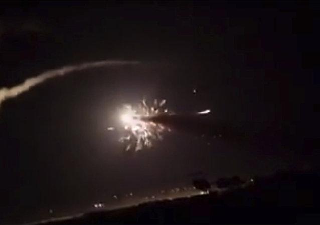 Ataque israelí contra Damasco (archivo)