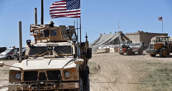 Un vehículo blindado de EEUU en Siria