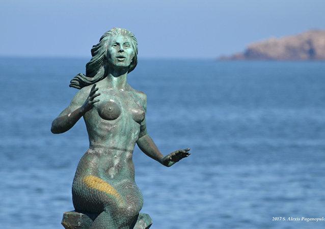 Una escultura de Sirena (imagen referencial)