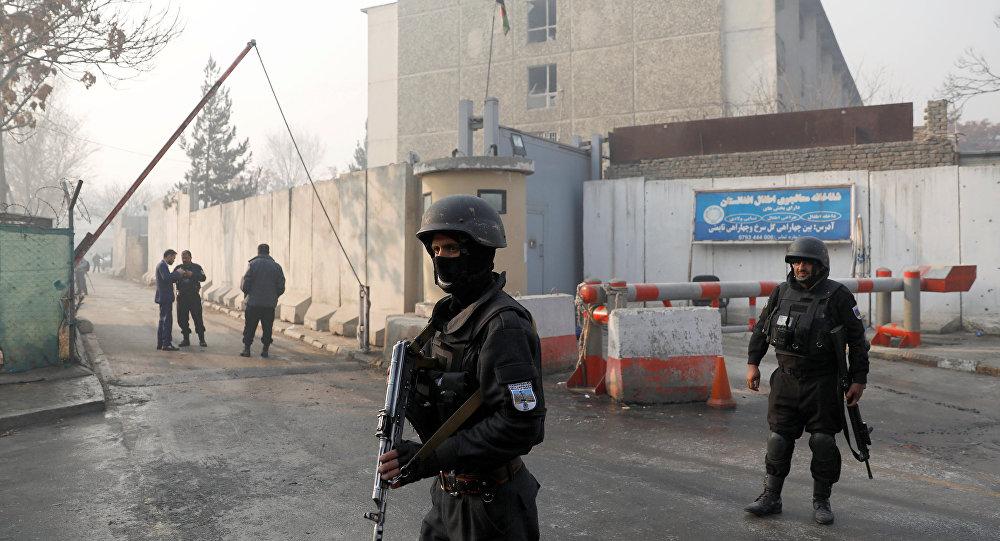 Un guardia de seguridad de Afganistán