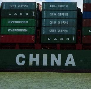 Contenedores con productos chinos (archivo)