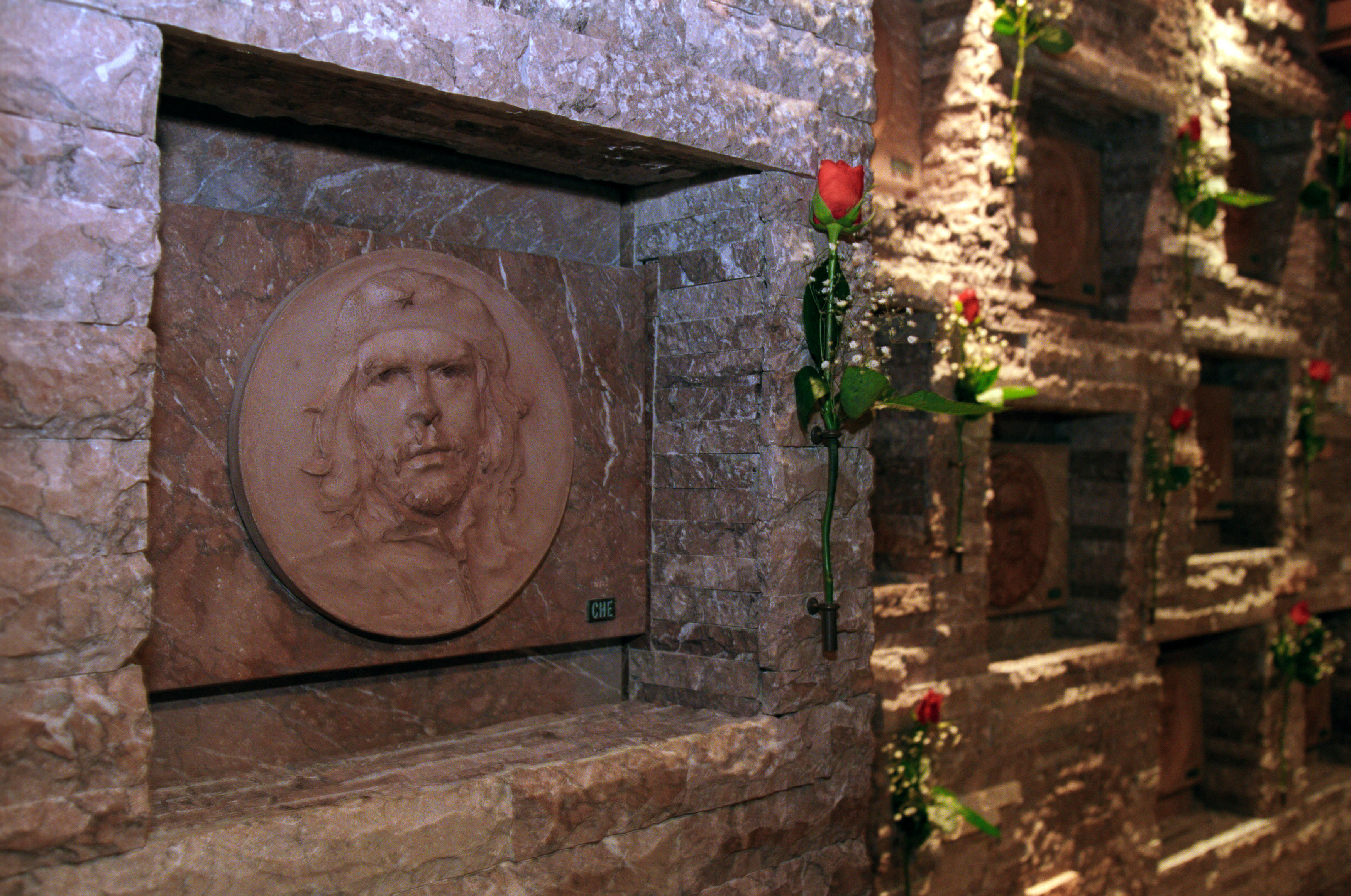 El nicho donde descansan los restos del Che Guevara en Santa Clara, Cuba