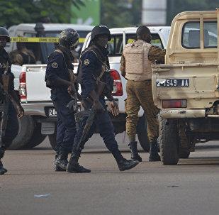 Fuerzas de seguridad en Ouagadougou, Burkina Faso