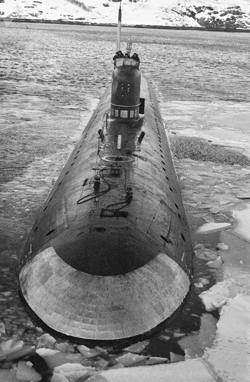 El submarino nuclear soviético K-3 Leninski Komsomol