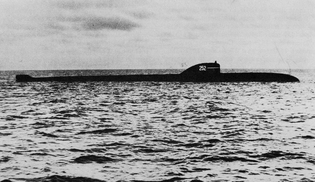 Un submarino nuclear soviético del proyecto 627A