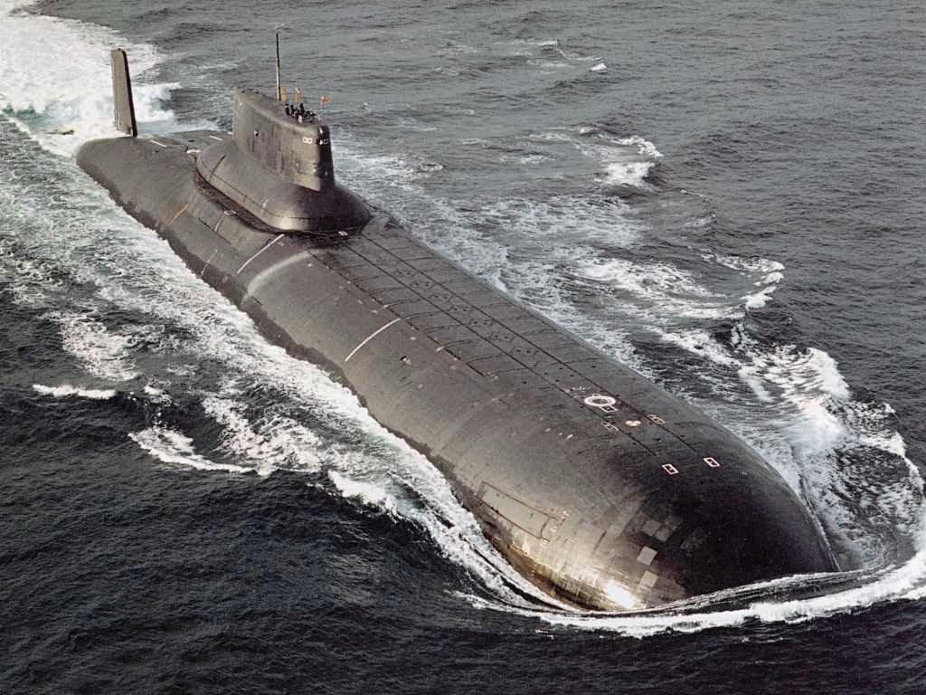 Un submarino del proyecto 941 Akula