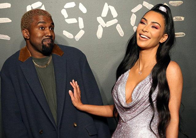 Kim Kardashian y su esposo, el rapero Kanye West