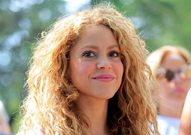 La cantante colombiana Shakira, de visita en el Líbano, en 2018