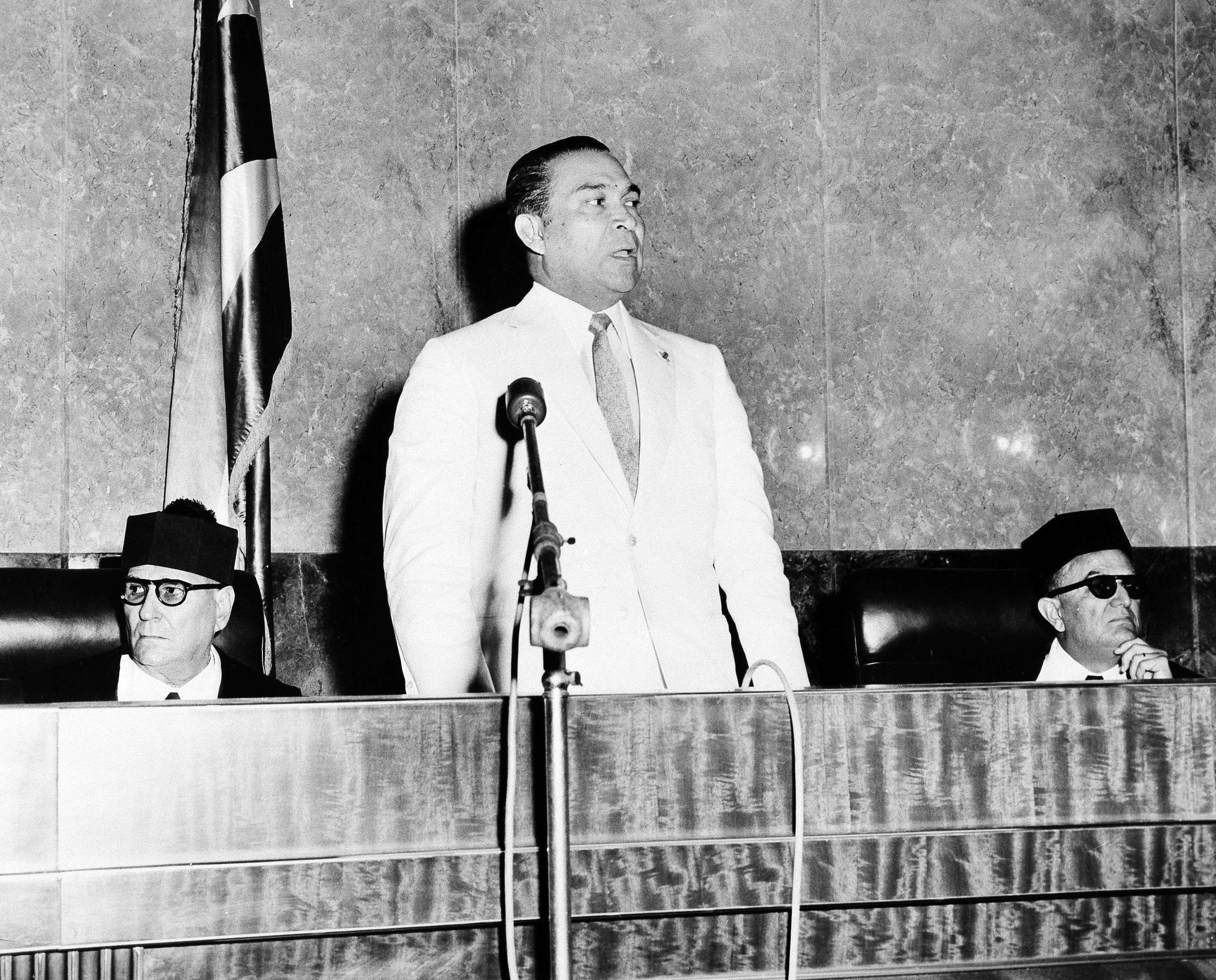 El dictador cubano Fulgencio Batista