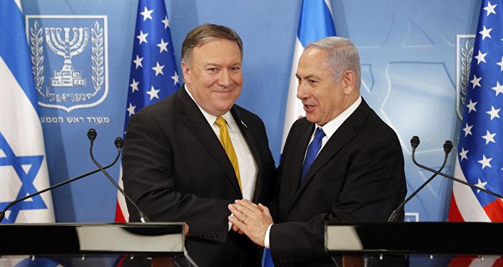 Mike Pompeo y Benjamín Netanyahu, foto de archivo