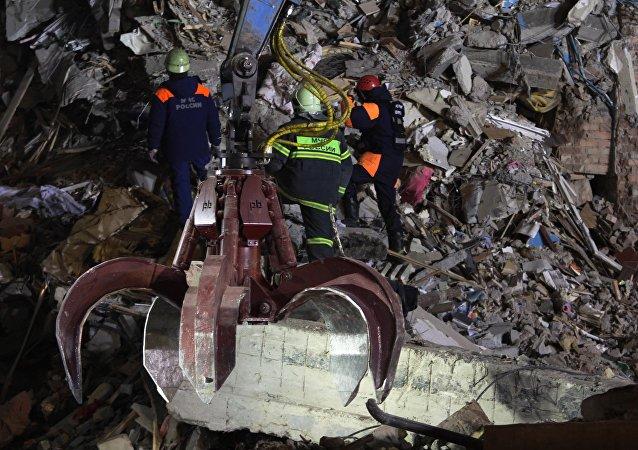Derrumbe de un edificio residencial en Magnitogorsk, Rusia