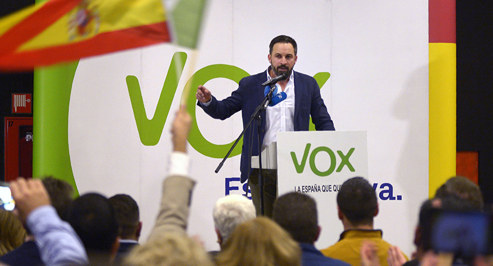 Santiago Abascal, líder del partido Vox