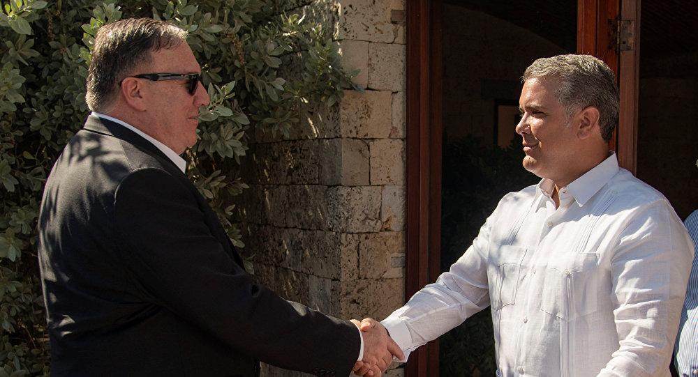 Mike Pompeo, secretario de Estado de EEUU y Iván Duque, presidente de Colombia