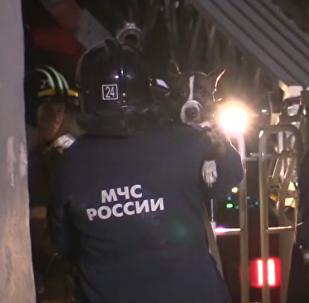 Un perro sobrevive tres días bajo los escombros del edificio desplomado en Magnitogorsk