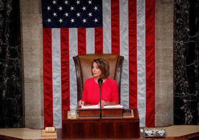 Nancy Pelosi, presidenta de la Cámara de Representantes de EEUU