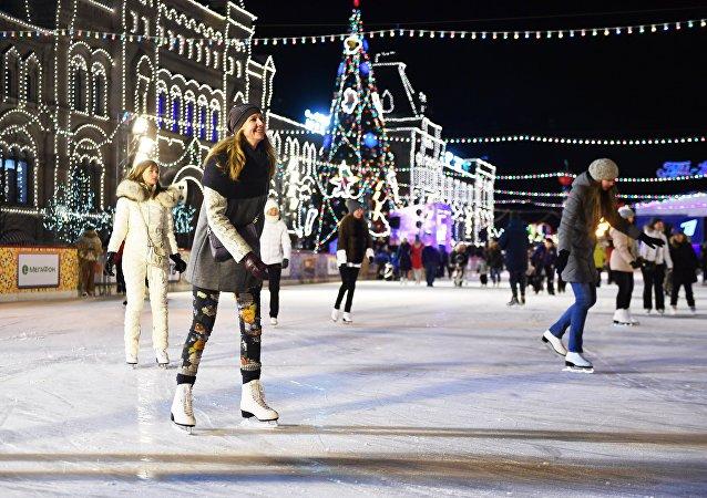 La pista de patinaje central de Moscú