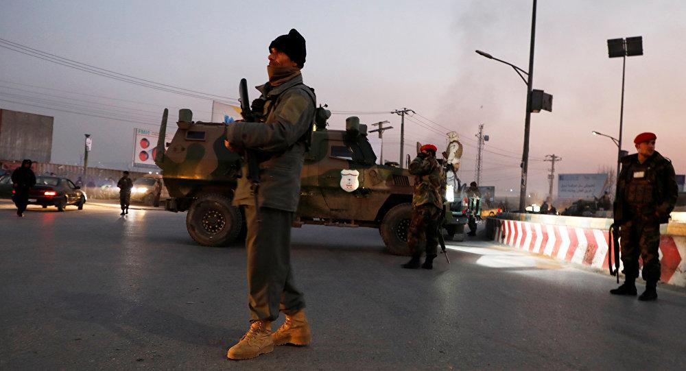 Un miembro de la fuerza de seguridad afgana en Kabul