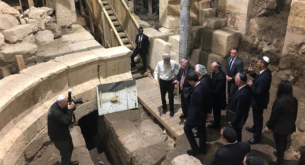 El consejero de Seguridad Nacional de EEUU, John Bolton, en Jerusalén