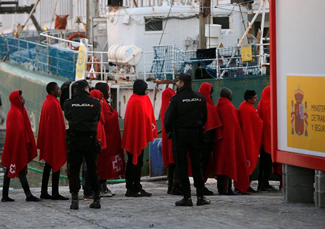 Llegada de migrantes a España