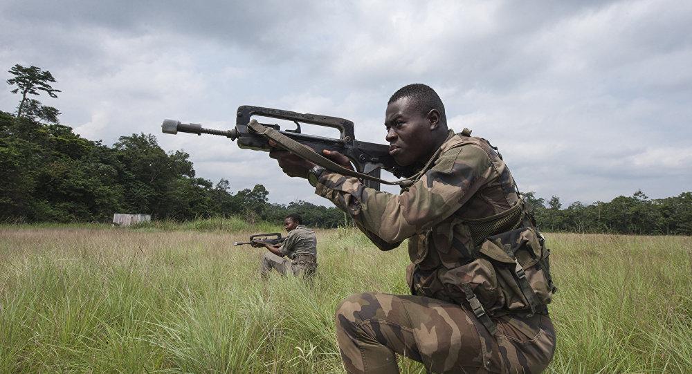 Miembros de las fuerzas de seguridad de Gabón