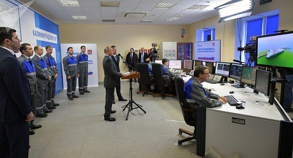 El presidente de Rusia, Vladímir Putin, inaugura terminal para recibir gas de planta regasificadora de GNL en Kaliningrado