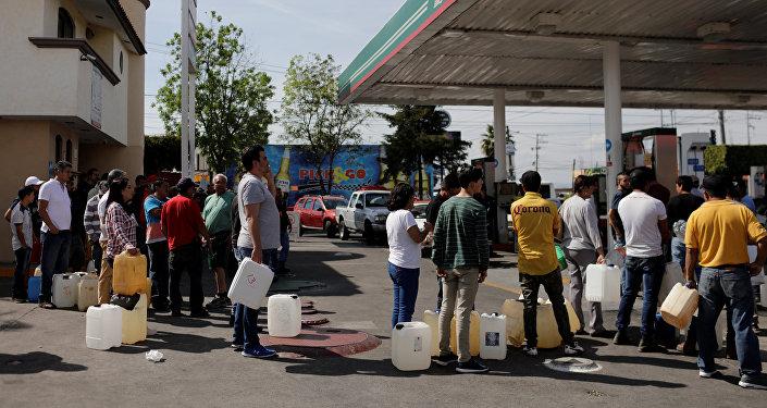 Una gasolinera en Morelia (Michoacán)