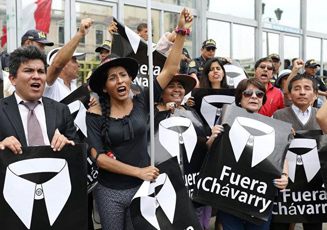 La manifestación contra Pedro Chávarry (Archivo)