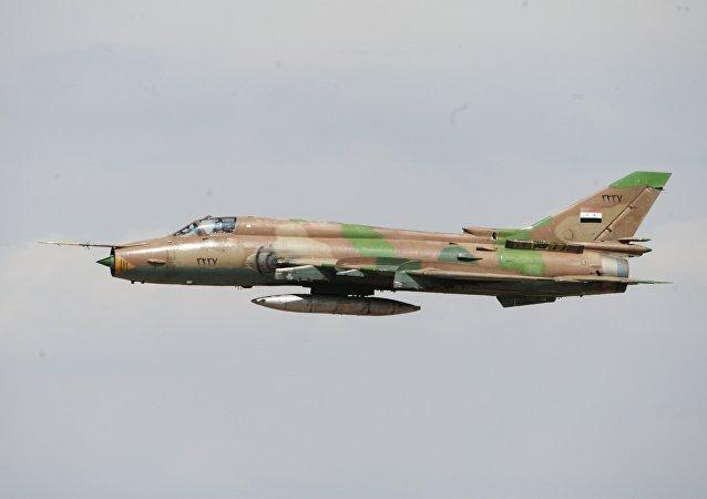 El avión sirio Su-17