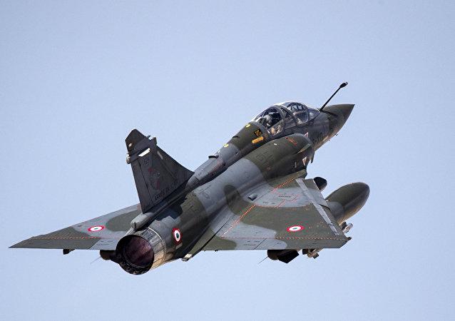 Un caza de la Fuerza Aérea francesa Mirage 2000D (imagen referencial)