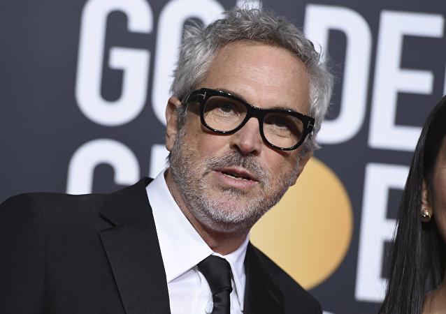 Alfonso Cuarón, cineasta mexicano, ante de la 76 entrega de los premios Globo de Oro, el 6 de enero de 2019