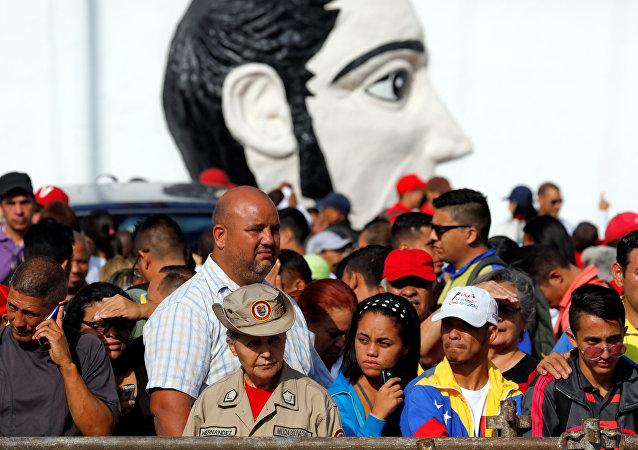 El pueblo venezolano en la ceremonia de la toma de posesión del presidente, Nicolás Maduro, en Caracas