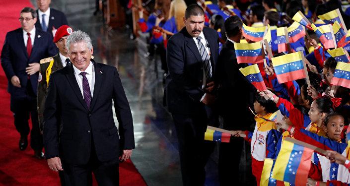 El presidente cubano, Miguel Díaz-Canel Bermúdez