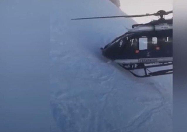 Este extraordinario rescate en los Alpes franceses te helará la sangre